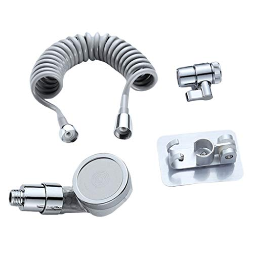 Flameer Bathroom Basin Water Tap Handheld Shower Head Rinser Kit For Hair Washing