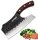 KITORY Vegetable Cleaver 7.4' Effort Saving Kitchen Knife Chinese Butcher Knives Forged Handmade...