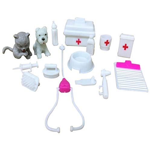 1 set simulatie dokter speelgoed pop apparaat ziekenhuis accessoires, kinderen geschenken simulatie ziekenhuis accessoires kinderen kinderen geschenken rollenspel verpleegster speelgoed