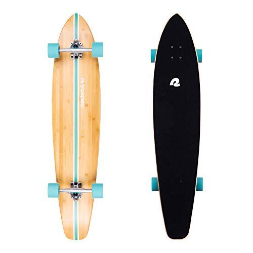 Retrospec Zed Longboard Skateboard Complete Cruiser | Bamboo & Canadian Maple Wood Cruiser w/Reverse Kingpin Trucks for Commuting, Cruising, Carving & Downhill Riding
