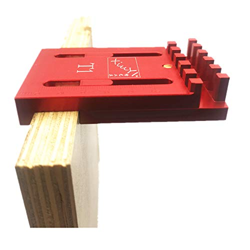 CarAngels アルミ製 木工ゲージ 厚さ測定器 ほぞつぎ用測定定規 凹凸ゲージ トリマービット テーブルソービット 丸鋸用 木工ゲージ 大工測定用品 (T1)