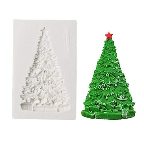 Verloco zeepvormen van siliconen, vorm voor kerstboom, chocoladevorm, bakvorm, handgemaakt, soap voor het knutselen van kaarsen en zeep
