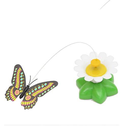 Elektrisch fliegende Schmetterlinge um Blumen und Katzenspielzeug Haustierspielzeug Praktisch-Zufällig