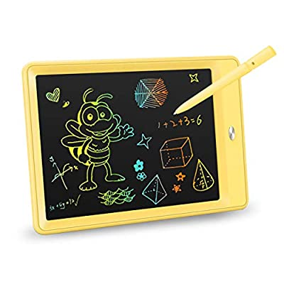 KOKODI LCD Writing Tablet, 10 Inch Colorful Toddler Doodle Board Drawing Tablet, Erasable Reusable Electronic Drawing Pads, Educational and Learning Toy for 2-6 Years Old Boy and Girls (Yellow) by KOKODI