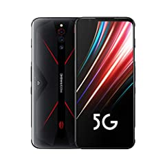 【6.65 inch Full HD+ Display】 RedMagic 5G 144Hz: Refresh rate 6.65″ AMOLED Display . At a 144Hz ultra-high refresh rate, you'll never miss a beat. Enjoy seamlessly fluid movements in action packed games and stay ahead of the competition. 【16MP+8MP Dua...