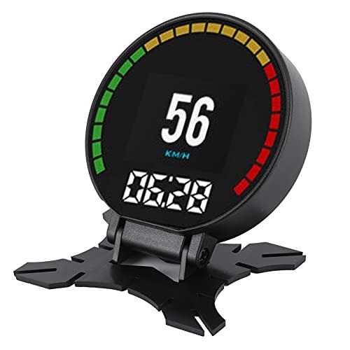 01 Medidor De Pantalla HUD, Pantalla Head Up Profesional Plug and Play, para La Mayoría De Los Vehículos Que Cumplen con Car Black Durable