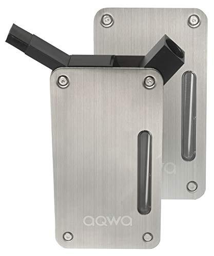 AQWA(アクワ) 携帯 水パイプ 喫煙具 水タバコ ボング (シルバー)