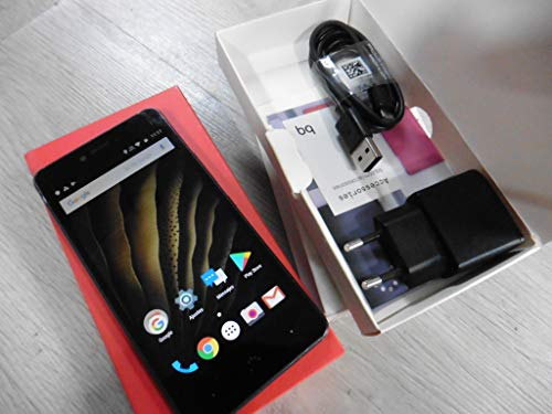 bq c000238Smartphone (16GB Memoria, cámara DE 13MP, 2GB RAM, Android 12,7cm (5Pulgadas)), Color Negro/Graphite Gris