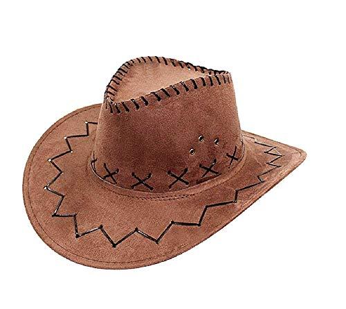 Cowboyhoed - cowgirl - verre westen - western - rodeo - carnaval - halloween - salon - sheriff - kostuum - accessoires - man - vrouw - kinderen bruin - idee verjaardag kerstcadeau