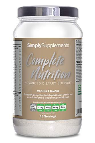 Batido Nutrición Completa Sabor Vainilla - ¡Bote para 15 raciones! - Apto para vegetarianos - 600g - SimplySupplements