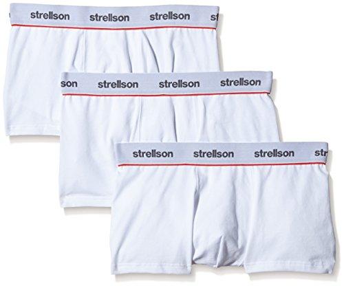 Strellson Bodywear Herren Shorts 3er Pack Retroshorts, Weiß (White 10), X-Large
