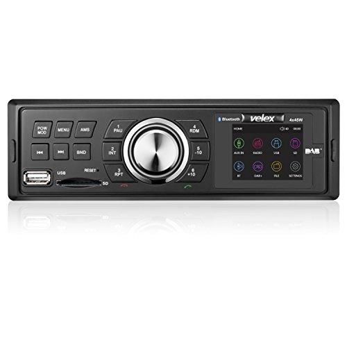 Velex Autoradio DAB+ DAB Autoradio DIN size Bluetooth AM FM Digital Radio 4 x 40W