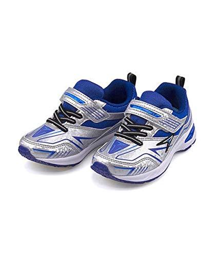 [シュンソク] 瞬足 女の子 キッズ 子供靴 運動靴 通学靴 ランニングシューズ スニーカー V8 クッション性 抗菌 防臭 2.5E カジュアル デイリー スポーツ スクール 学校 JC-790 シルバー 16.5cm