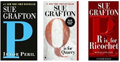 SUE GRAFTON SET OF 3: P is for Peril, Q is for Quarry, and R is for Ricochet
