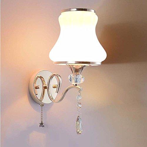 YU-K antieke lampen antieke strijkijzeren wandlamp voor bar, restaurant en koffie winkel woonkamer slaapkamer hal balkon, dimmen, trekschakelaar is perfect, 10 * 36 cm