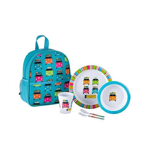 Melamin Kinder Geschirr-Set 1 Person Camper Smiles Junior Campinggeschirr Picknickggeschirr