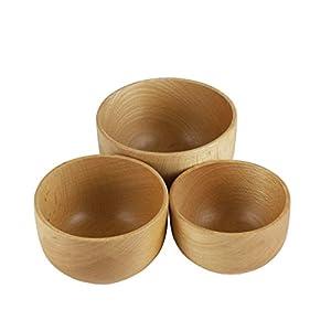 【Amazon.co.jp 限定】 キャプテンスタッグ(CAPTAIN STAG) 木製食器 食器 カップ ボール お茶碗 器 スタッキング 木製カップ 3個組 【 容量:大/440ml・中/330ml・小/200ml 】 UP-2657