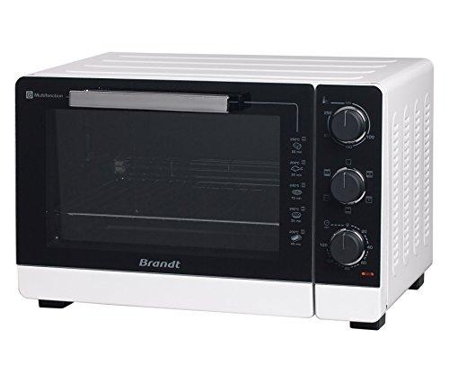 BRANDT - Mini four posable et compact 2100 W – Capacité 40L - Multifonction avec 5 modes de cuisson - Cuisson homogène - Double vitrage – Blanc