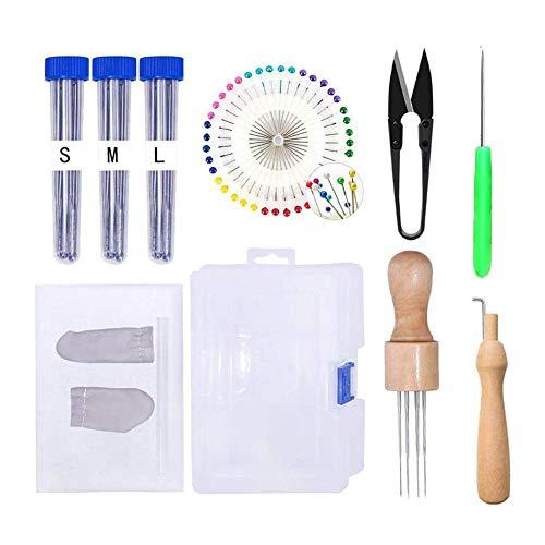 DIY Filznadel Werkzeug Set Handgefertigtes Filz Nadel Set Werkzeugkiste Zubehör Nadelfilzen für Anfänger Profis