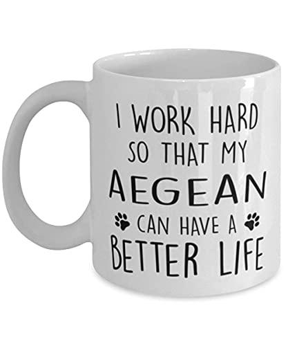 N\A Taza Divertida del Gato Trabajo Duro para Que...