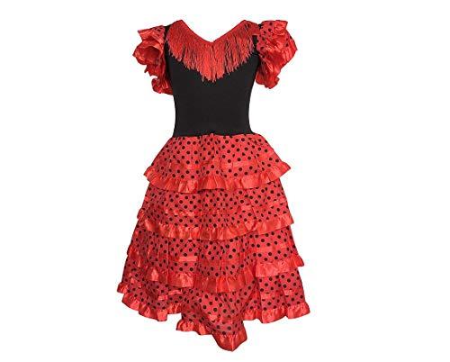 La Senorita Vestido Flamenco Sevillana Español Traje de Fla