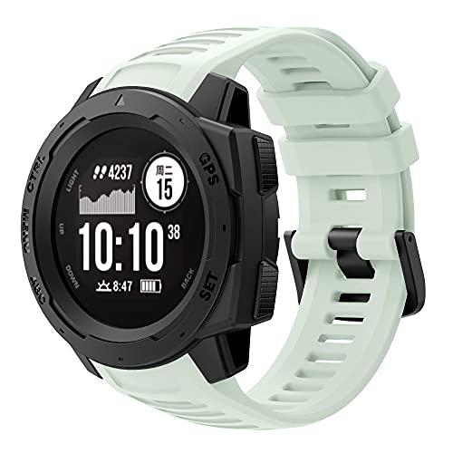 Classicase Repuesto de Correa de Reloj de Silicona Compatible con Garmin Instinct Tide/Instinct Tactical/Instinct Esports, Caucho Fácil de Abrochar para Relojes y Smartwatch (Pattern 3)