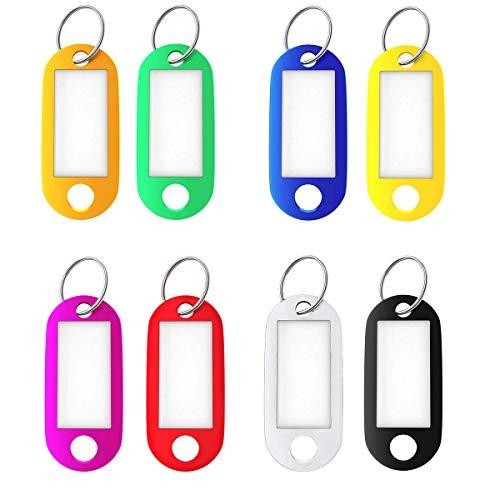 8 etiquetas con anillo dividido, etiquetas de identificación, etiquetas de equipaje, 8 colores