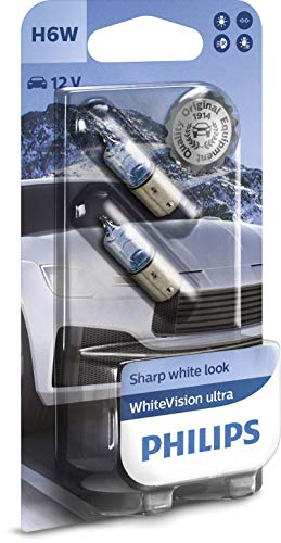 Philips WhiteVision ultra H6W bombilla de señalización, blister doble