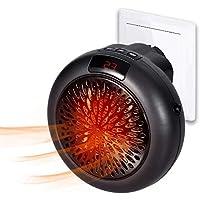 Insta Heater - Mini Estufa Eléctrica Portátil Calefactor Cerámico con Termostato Ajustable, Temporizador 12 Horas & Adaptador Giratorio Termoventilador Bajo Consumo para Casa Oficina