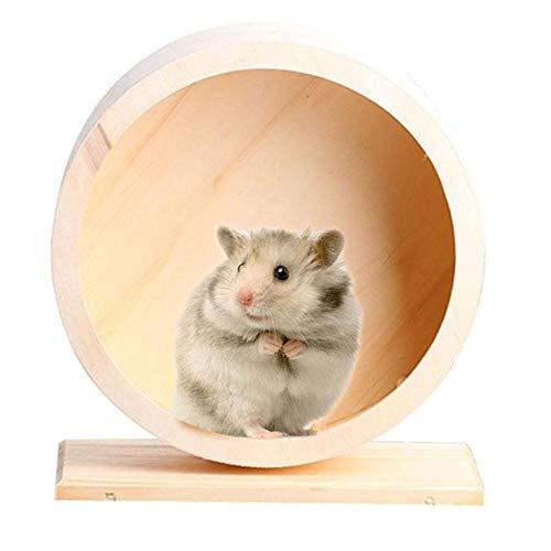 Soul hill Hamster Ball Riesenhamster Ball Hamster Silent Rad Ball Holzkugel Hamster Hamster Übung Hamsterrad Zwerghamster Rad große Hamster zcaqtajro