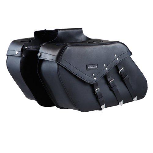 Stabile Motorrad Satteltasche 3-Schnallen