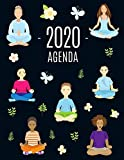 Yoga e Meditazione Agenda 2020: Agenda di 12 Mesi con Calendario 2020 | Pianificatore Giornaliera