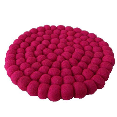Maharanis Fairtrade Filz Untersetzer Topf Untersetzer pink 22 cm handgefertigt aus reiner Wolle, hitzebeständig