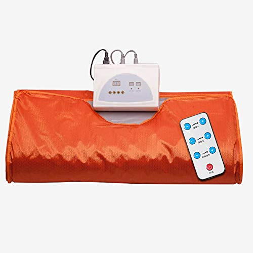 XALO Far Infrared Sauna Blanket, 180 * 80Cm Portable Personal Slimming Blanket for Weight Loss And Detox Beauty Relieve Fatigue, Quadruple Protection, Orange