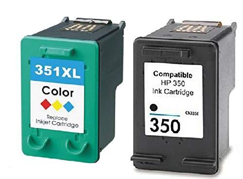 2x XL CARTUCCE STAMPANTE COMPATIBILE PER HP 350 351 XL Photosmart C4280 C4480 Officejet J5730 J5735