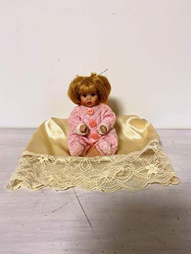 La Favola Incantata Bimba Fine Porcellana Bambolina Bambola Vestitino Rosa Artigianale da Collezione sacchettino Assortito Omaggio - Offerta Lampo