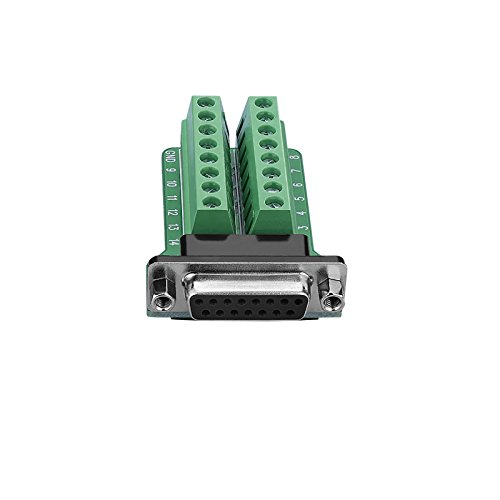 SIENOC DB15-M2 2Row 15Pin Buchse Port Breakout Board Anschlüsse Schraubenmutter Anschlüsse (DB15-M2-01 Adapter)