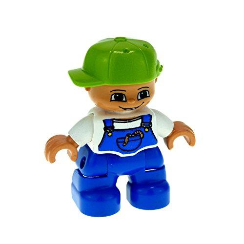 1 x Lego Duplo Figur Kind Junge blaue Latzhose und...