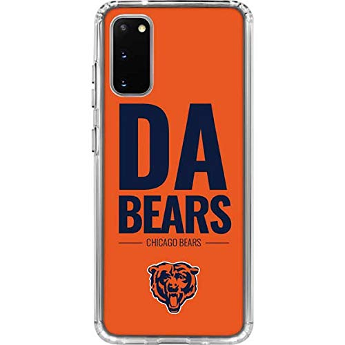 Skinit Clear Phone Case Compatible with Samsung Galaxy S20 - Officially Licensed NFL Chicago Bears Team Motto Design
