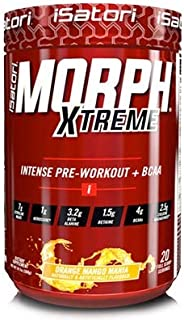 iSatori Morph Xtreme Intense Pre Workout Formula With BCAA For Maximum Gains - Increase Energy, Endurance And Muscle Growth - Fast Recovery - Orange Mango Mania - 20 Servings