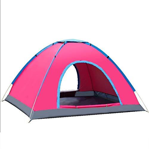 DWJ-Z Komplett Automatisch Zelt, Draussen 2-4 Personen Feld Wasserdicht Camping Familie (Farbe : Rosa, größe : 200 * 150 * 125cm)
