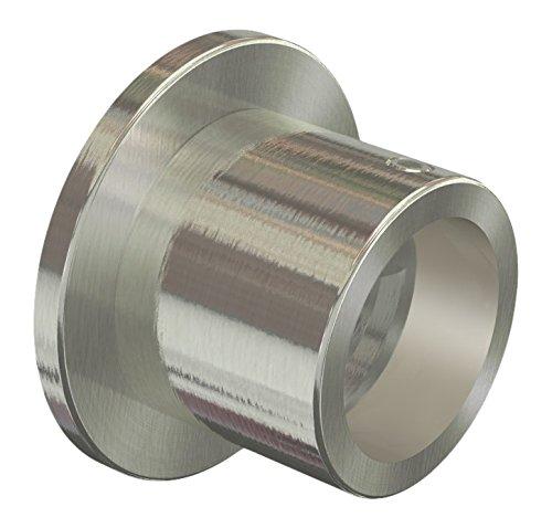 Flairdeco Nischenträger Wandlager für 20 mm Ø Gardinenstange, Metall, Edelstahl-Optik, 2 Stück