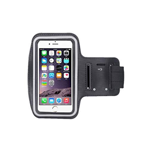VORCOOL Ceinture de Sport pour téléphone Portable avec Bras, Sac de Rangement (Noir)