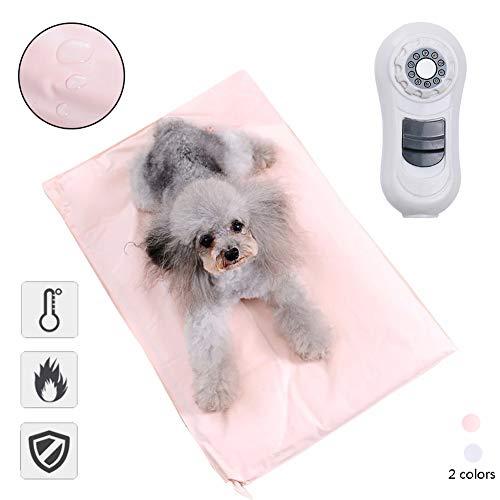 ZWW Warmtekussen voor huisdieren, waterdicht, 9 temperatuurniveaus, verstelbaar, zacht, elektrisch, voor huisdieren, bank, bed