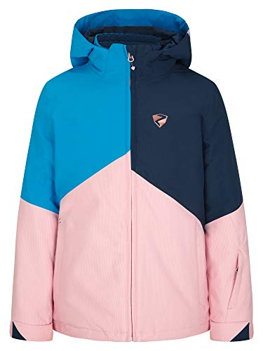 Ziener Mädchen Alani Junior Kinder Skijacke, Winterjacke | Wasserdicht, Winddicht, Warm, Sugar Rose Cord, 164