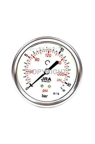 """JRA-Longlife Glyzerin Manometer 0-16 bar NG63 Anschluss hinten G1/4"""""""