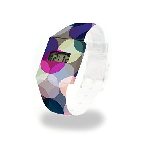 MULTIPLY - Pappwatch - Paperlike Watch - Digitale Armbanduhr im trendigen Design - aus absolut reissfestem und wasserabweisenden Tyvek® - Made in Germany, absolut reißfest und wasserabweisend