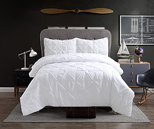 Cathay Home 108620 Comforter-Sets, Twin, White