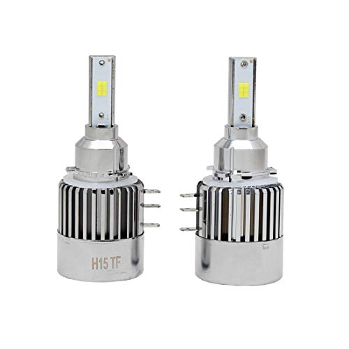RED WOLF H15 LED Headlight Bulb Conversion Kits High Lumen LED Chip 8000LM 6500K DRL Brilliant for Audi A3 A6 2012-2015, Ford Explorer 2016, Mazda 6 2014
