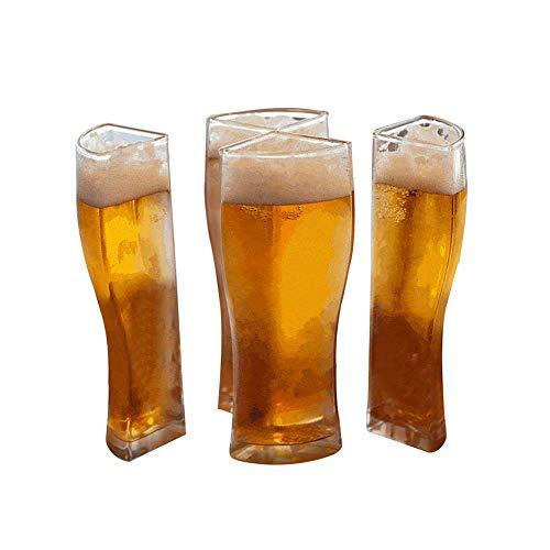 Schoner BiergläSer 4 In 1 Acryl Kunststoff Material Party Party Urlaub Geburtstag GeträNk Bierkrug, Super Schooner Glas, Kreative Plastik Pint Biergläser für Party, Festival